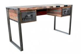 bureau d 騁ude industriel achat grand bureau industriel réalisé en métal et bois recyclé une