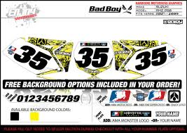 ama motocross numbers badboy motocross number plate graphic 07 09 rmz 250 numbers by
