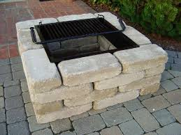 Square Fire Pit Insert by Wonderful Fire Pit Grill Grate Square Garden Landscape