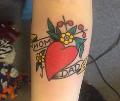 traditional sailor jerry heart tattoo done by kyle skyer at tiger