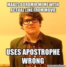 Boromir Memes - boromir meme with actual line from movie