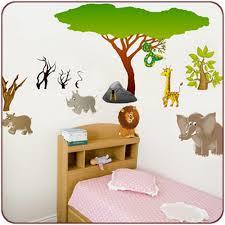 stickers savane chambre bébé kit stickers animaux de la jungle stickers animaux stickers
