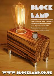 hand made lamps in hackney east london from recycled or reclaimed hand made lamps in hackney east london from recycled or reclaimed wood using replica edison bulbs