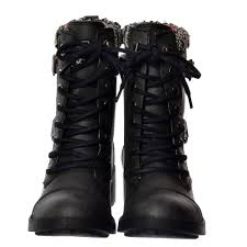 grey biker boots ladies womens rocket dog thunder lace up buckles military ankle boots