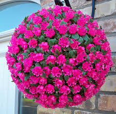 flower balls best artificial tm 28cm pink topiary hanging flower