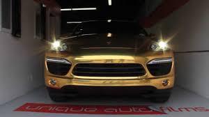 porsche cayenne gold unique auto 2014 porsche cayenne gold chrome vinyl wrap