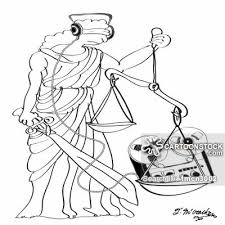 Justice Is Blind Lady Justice Cartoons And Comics Funny Pictures From Cartoonstock