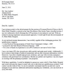 Resume For Nursing Position Lpn Travel Nurse Cover Letter