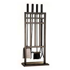 shop style selections 4 piece steel fireplace tool set at lowes com