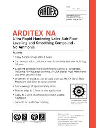Damp Proof Membrane Under Laminate Floor Ardex Arditex Na Flooring Adhesive