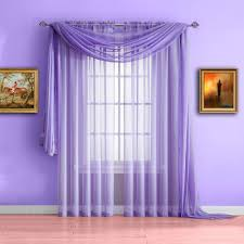 warm home designs lilac purple window scarf sheer purple curtains
