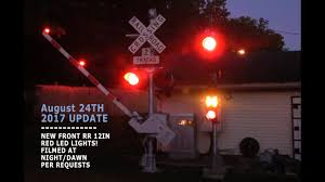 august 2017 backyard railroad crossing at dawn u0026 new front red led
