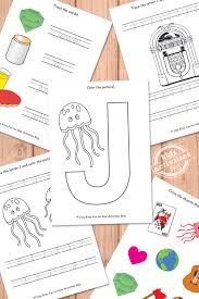 letter j worksheets free kids printable