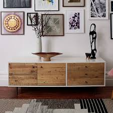 Modern Media Storage Furniture by Reclaimed Wood Lacquer Media Console Long Consoles Woods
