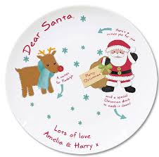 personalised santa plate by letteroom notonthehighstreet