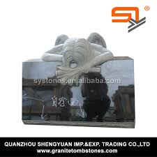 headstone maker granite headstone maker with angel wings for grave from china