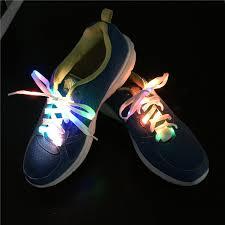 led shoelaces aliexpress buy rainbow 7 colors men women light up led