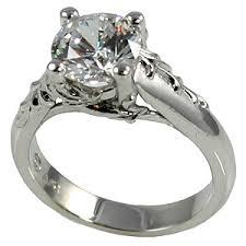cubic zirconia engagement rings platinum antique floral cz cubic zirconia engagement ring