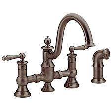 moen waterhill kitchen faucet moen s711orb waterhill one handle kitchen faucet with side spray