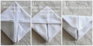 how to make table napkins bunny fold napkin diy stonegable
