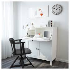 bureau secretaire ikea hemnes secrétaire teinté blanc 89x108 cm ikea