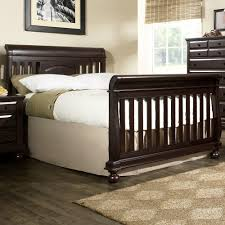 Convertible Sleigh Bed Crib Creations Summer S Evening Convertible Sleigh Crib In Espresso