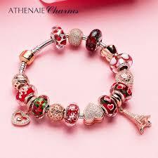 rose silver bracelet images Buy athenaie 925 silver bracelet rose gold eiffel jpg