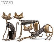 aliexpress com buy tooarts three cats figurines one set three
