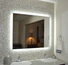 lighted bathroom wall mirror large pleasant design ideas lighted bathroom wall mirror back mirrors edge