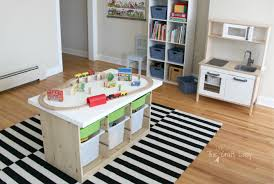 activity table with storage an ikea hack train activity table the crazy craft lady