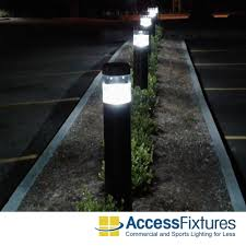 Bollard Landscape Lighting by 50w Usa Hps Round Flat Top Bollards With Standard Reflector 120v