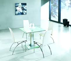 Glass Top Square Dining Table Small Glass Kitchen Table For Alluring Modern Square Glass Dining