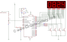 digital voltmeter using pic microcontroller 16f877a and seven