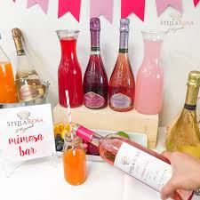 diy your own mimosa bar stella rosa wine cocktail recipes