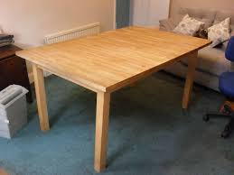 extending table ikea bjorna extending table 1 5 metres long x 1 metre wide