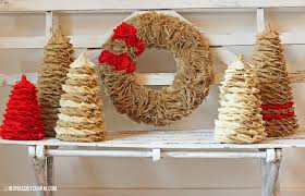 12 days of day 2 burlap tree and wreath tutorial