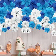 wedding backdrop blue handmade foam paper flower for wedding backdrops party event