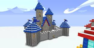 Minecraft Flag Warcraft 3 Human Castle In Minecraft Day Time By