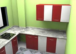 house with an modular l shape simple indian kitchen interior