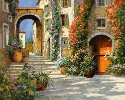 Red Door Home Decor Aliexpress Com Buy Italian Scenery Painting The Red Door On