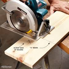 How To Cut Laminate Flooring How To Use A Circular Saw Long Cuts Family Handyman