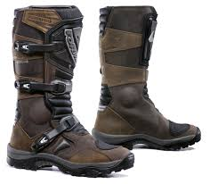 brown leather motorcycle boots forma adventure waterproof mens and womens motorcycle boots