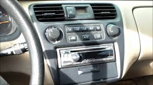 how to replace ac control assembly honda accord youtube