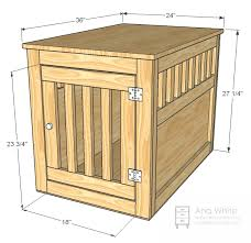 How To Build Wood End Tables by Ana White Large Wood Pet Kennel End Table Diy Projects