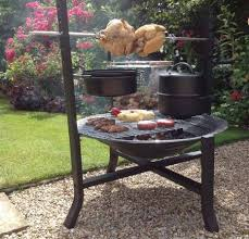 Large Firepit Large Pit With Rotisserie And Bbq Grill Savvysurf Co Uk