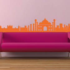 Peel And Stick Photo Wall The Indian Skyline Wall Vinyl Sticker Art Poster Easy Peel