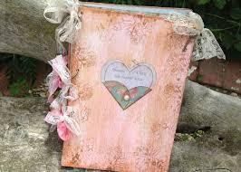 rustic wedding scrapbook heart wedding guest book in vintage rustic scrapbook style