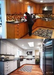 Before And After Painted Kitchen Cabinets by Best 25 Before After Kitchen Ideas On Pinterest Before After