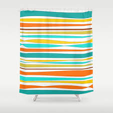 Yellow And Navy Shower Curtain Orange And Teal Shower Curtain Sohbetchath Com
