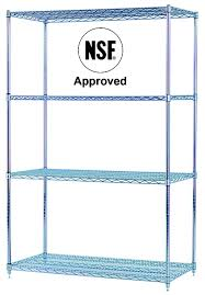 Commercial Wire Shelving by Chrome Wire Shelving Units Nsf Shelving Commercial Shelves